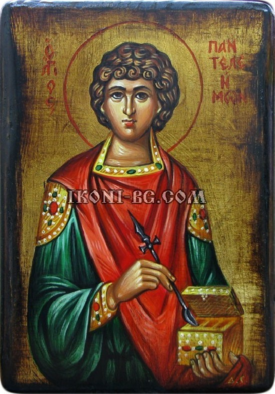 Рисувана икона на Свети Пантелеймон