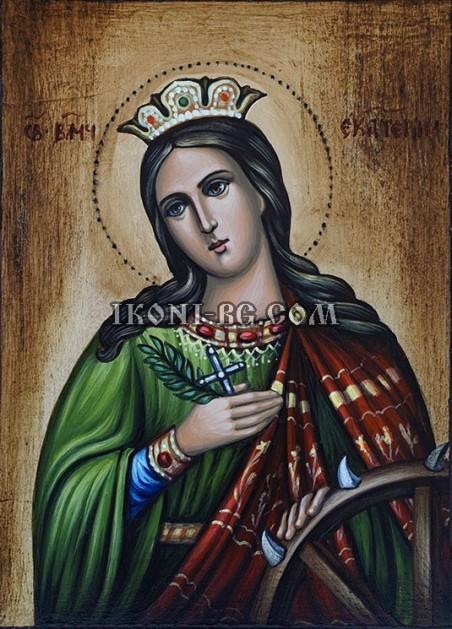 Рисувана икона на Света Екатерина