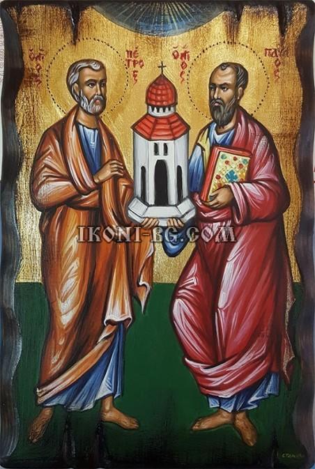Рисувана икона на Св. Петър и Св. Павел