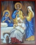 Рисувана икона Рождство Богородично