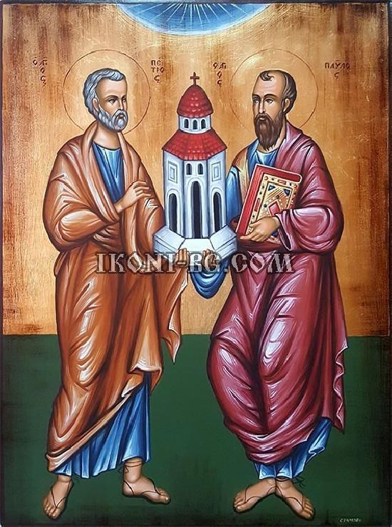 Рисувана икона на Свети Петър и Свети Павел