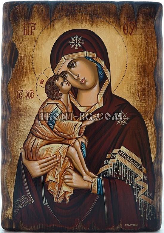 Рисувана икона на Света Богородица Владимирска