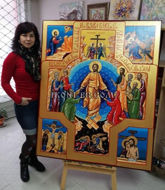 Рисувана икона Възкресение Христово