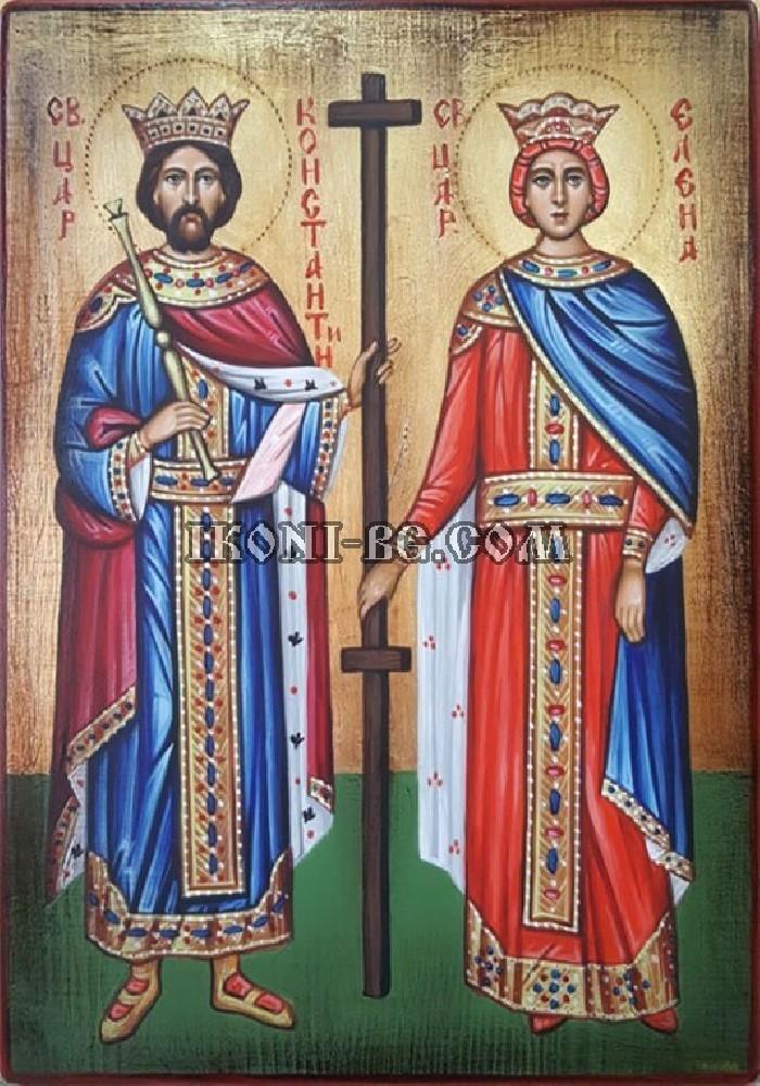 Рисувана икона на Св. Константин и Св. Елена