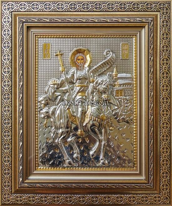 Сребърна икона на Свети Мина