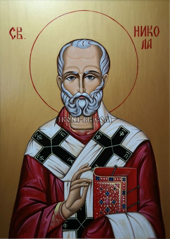 Рисувана икона на Свети Никола