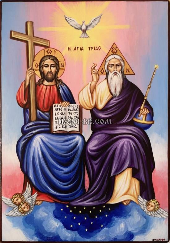 Рисувана икона Света Троица