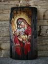 Рисувана икона Св. Богородица Умиление