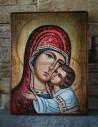 Рисувана икона Света Богородица Умиление
