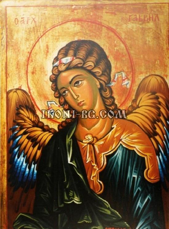 Рисувана икона на Свети Архангел Гавраил