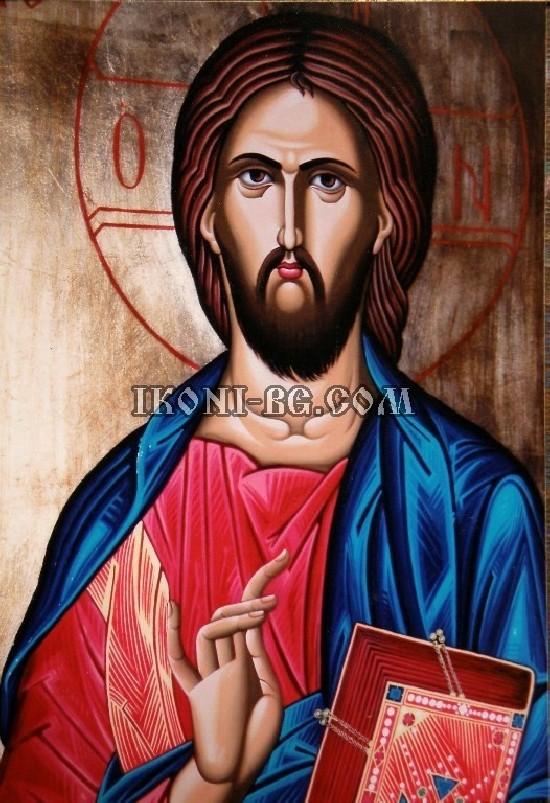 Рисувана Икона Исус Христос