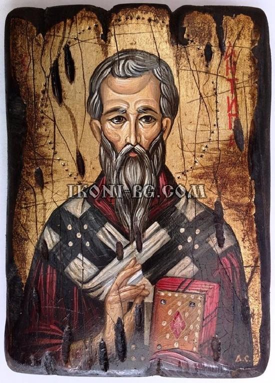 Рисувана икона на Свети Антипас