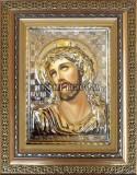 Сребърна икона на Исус Христос Трънен венец