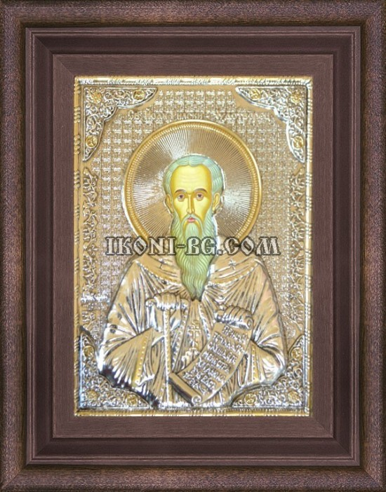 Сребърна икона на Свети Йоан Рилски