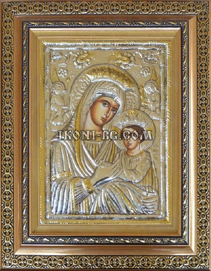Сребърна икона на Света Богородица