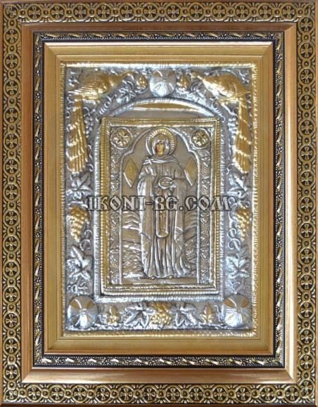 Сребърна икона Света Петка