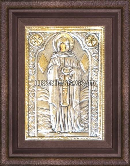 Сребърна икона на Света Петка