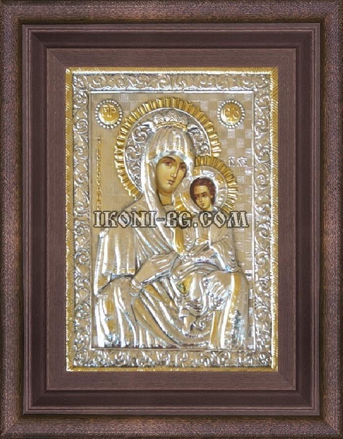 Сребърна икона на Св. Богородица