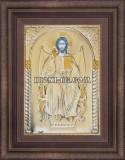 Икона Исус Христос сребърен обков