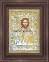 Икона на Исус Христос сребърен обков