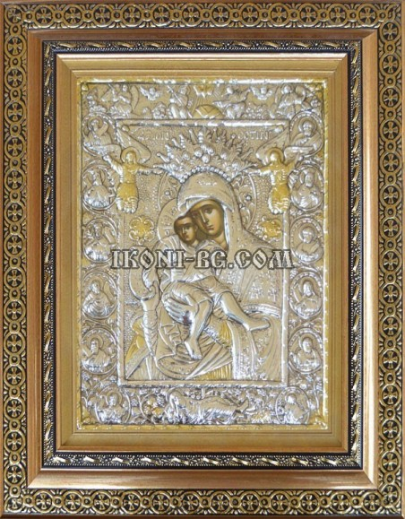 Сребърна икона на Света Богородица Достойно Ест