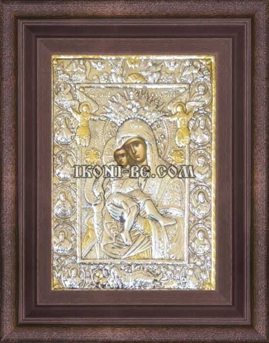 Сребърна икона Света Богородица Достойно Ест