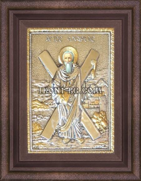 Сребърна икона на Свети Андрей
