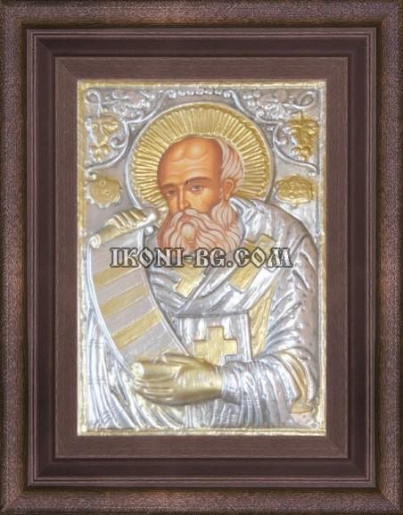 Сребърна икона Свети Атанасий