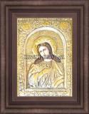 Сребърна икона Света Екатерина