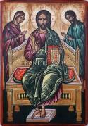 Рисувана икона на Исус Христос на трон
