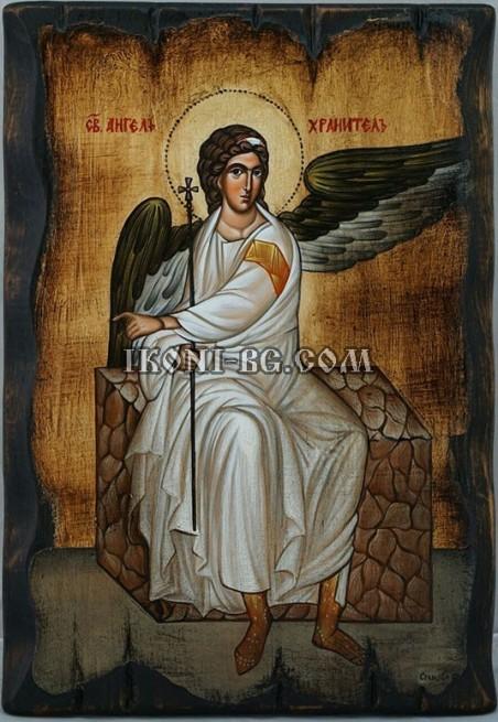 Рисувана икона на Св. Ангел Хранител